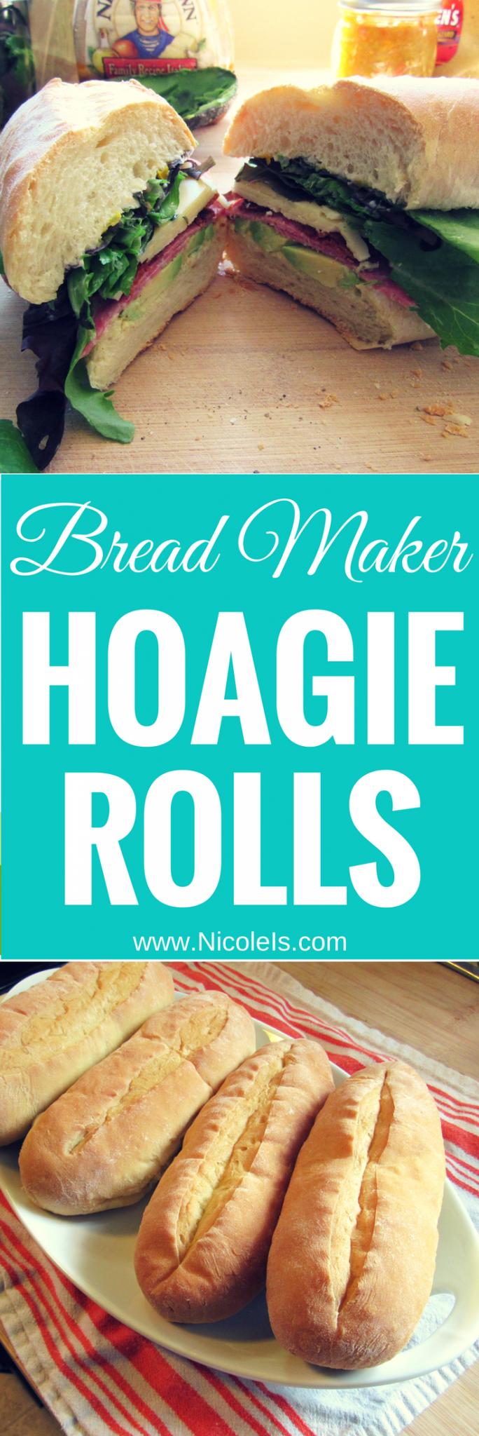 Bread Machine Hoagie Rolls | Easy as Bread Recipe - Nicole is