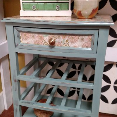 DIY Decoupage Wine Rack