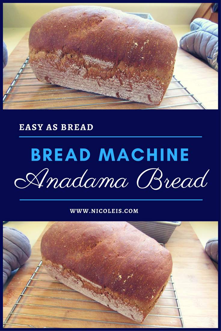 Bread Machine Anadama Bread Recipe | Easy as Bread! Yummy!! Perfect Sandwich Bread!