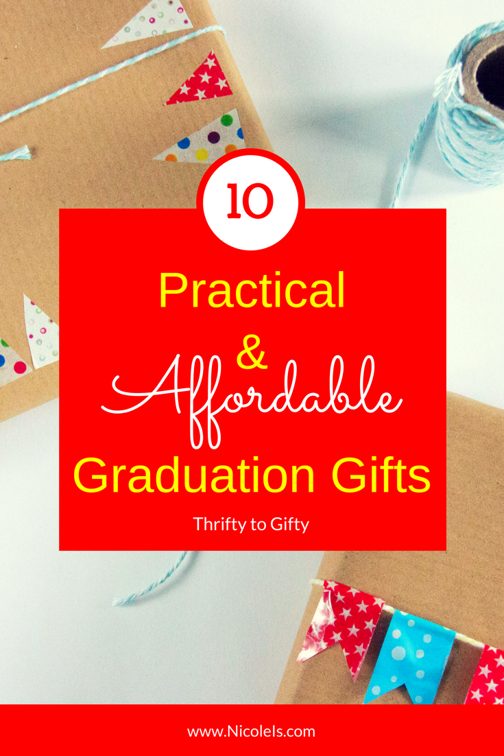 10 Practical & Affordable Graduation Gifts | Thrifty to Gifty What a great gift guide! Gifts grads will actually use.