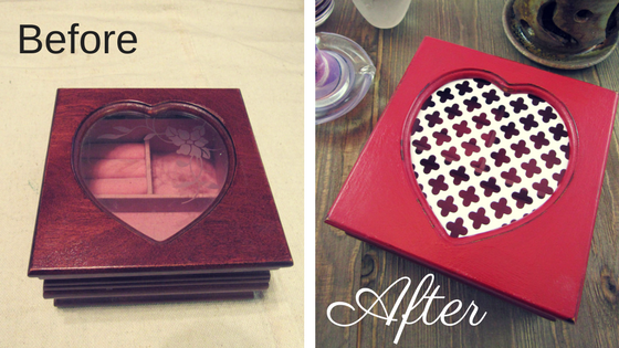 DIY Project Heart Jewelry Box | Thrifty to Gifty! So Adorable and Easy!!!!