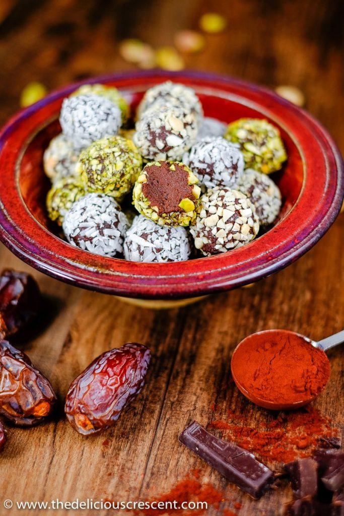 Luscious Date Avocado Chocolate Truffles
