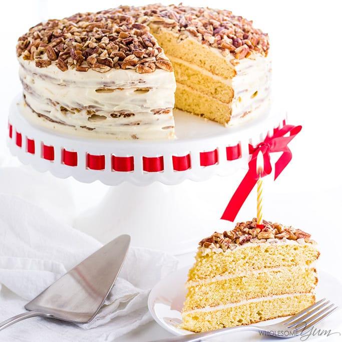 Gluten Free Birthday Cake By Wholesome Yum