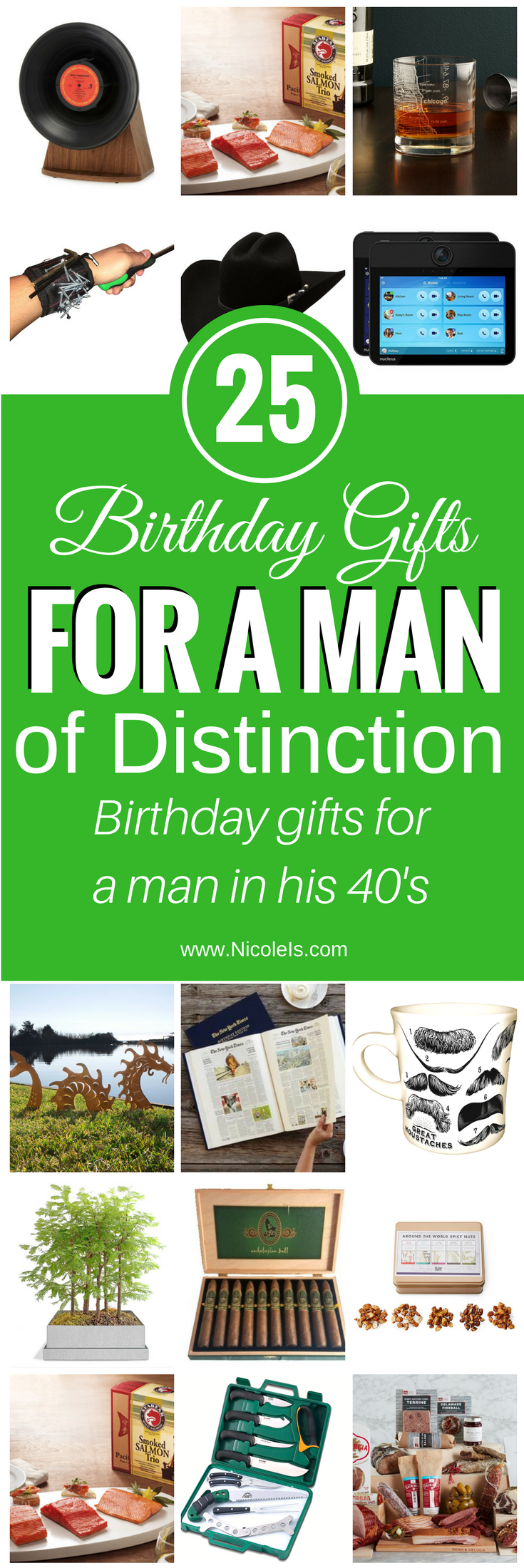 25 Birthday Gifts for a Man of Distinction! www.NicoleIs.com Gifts for Him | Birthday Gifts for Him | Anniversary Gifts for Him | Valentine's Day Gifts for Him | Birthday gifts for Him | gifts for a man | birthday gifts | Christmas gifts for a man | birthday gifts for a guy | gifts for a guy | anniversary gifts for a man | valentine's day gifts for a man | Gifts for Boyfriend