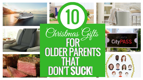 10 Fantastic Christmas Gifts for Older Parents... that don't suck! Christmas Gifts | Christmas Gifts for Mom | Christmas Gifts for Dad | Christmas Gifts for Grandparents | Christmas Gifts for Her | Christmas Gifts for Retired | Christmas Gifts for Him | Christmas Gifts from Family | Christmas Gifts for Family | Christmas Gifts for Parents | Gifts for Her | Gifts for Him | Gifts for Parents | Gifts for Dad | Gifts for Mom | Gifts for Grandparents | Holiday Gifts | Gift Guide | #blackfridaydeals #christmasgifts