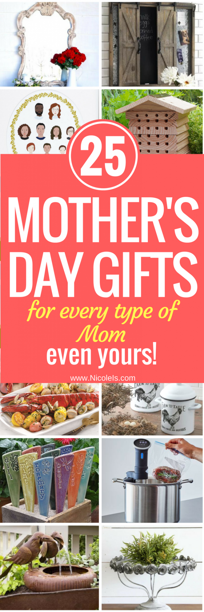 25 Mother's Day Gifts for every type of mom! | Gifts for Mom | Gifts for Her | Gifts for Women | Gifts for Grandmother | Gifts for Aunt | Gifts for Sister | Gifts for Girlfriend | Mother's Day Gifts| Birthday Gifts for Her | Christmas Gifts for Her | Grandparent's Day Gifts | Gourmet Gifts | Garden Gifts | Farmhouse Style Gifts | Shabby Chic Gifts | Sustainable Gifts | Personalized Gifts | Christmas Gifts for Her | Valentine's Day Gifts for Her | Gifts for Wife | Gifts for Aunt
